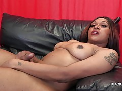 Monica wears a perfect smile as she hangs out in front of the camera hoping to turn us on. She`s flaunting her beautiful ass-pussy and her lovely pair of tgirl tits that will make you want to fuck her. How about licking that gorgeous cock of hers? Well yo