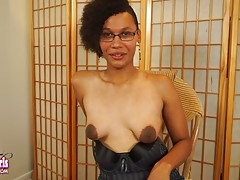 Sexy black tgirl Koko Beans recently smashed a killer hardcore set with her girlfriend Amy Space Kitten over on TGirls.Porn and today she returns to Black TGirls to remind us just how naughty she can be when left to her own devices! Watch this ebony fox s