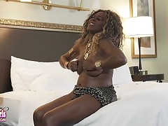 Vivian Spice has a sexy body with curves in all the right places! This sexy tgirl has big boobs, a juicy ass and a delicious uncut cock! Watch this hot and horny transgirl getting naked and playing with her cock for you!