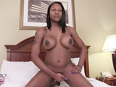 Phoenix is a gorgeous transgirl with an amazing body, big boobs, sexy round ass and rock hard cock! Enjoy this hot tgirl showing her stuff and stroking her hard cock!