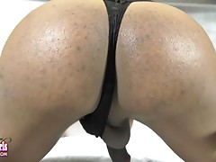 Diamond TiJahe is a sexy transgirl with a hot slim body, small pretty tits, a great ass and a sexy big hard cock! Join this hot tgirl as she fucks herself with her big dildo and strokes her cock!