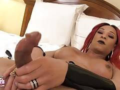 A very sexy lady with a gorgeous cock