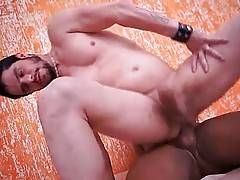 Horny Guy Gets Drilled By Black Tranny 3